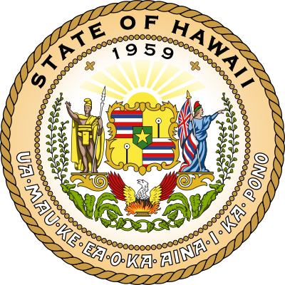 Seal of the State of Hawaii (Alt Text Example #2)