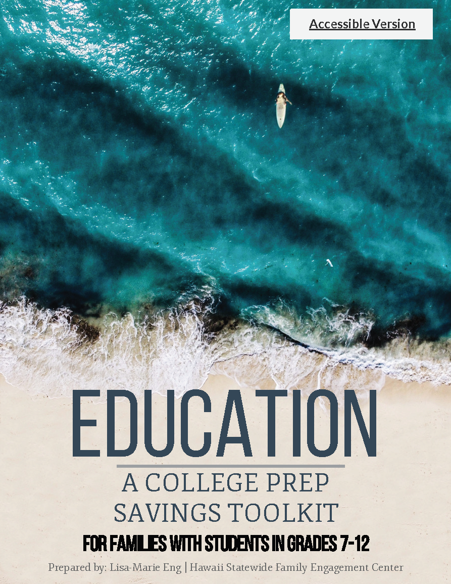 Cover of: EDUCATION A COLLEGE PREP SAVINGS TOOLKIT For Families with students in grades 7-12