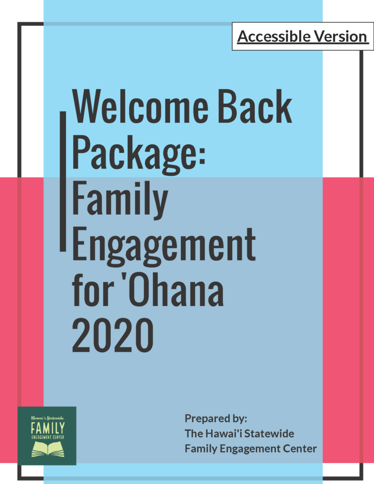 Welcome Back Package: Family Engagement for 'Ohana 2020