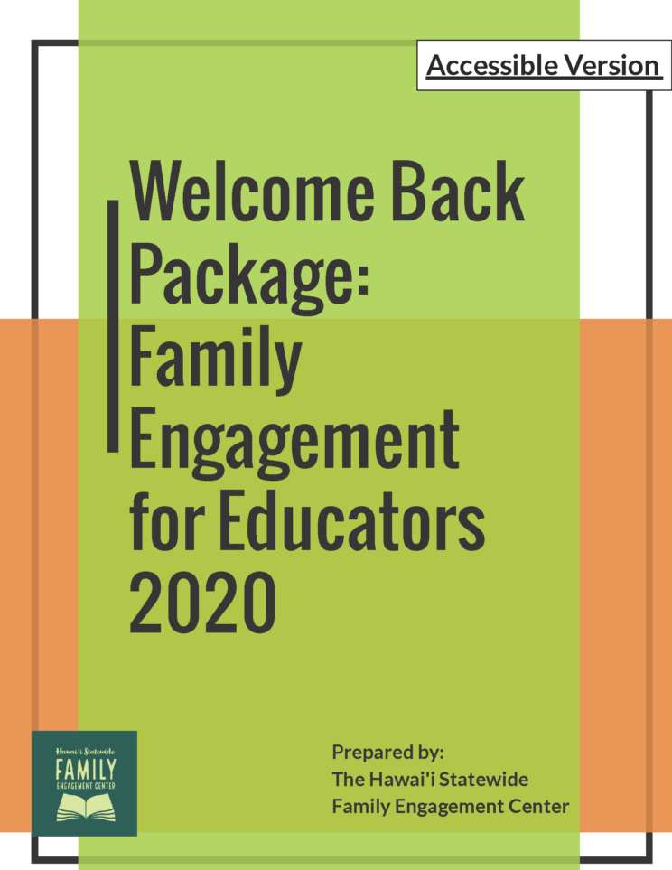 Welcome Back Package: Family Engagement for Educators 2020