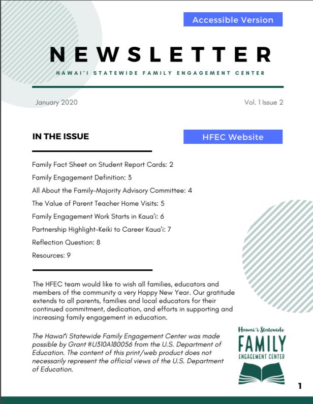 Thumbnail of Newsletter Volume 1, Issue 2