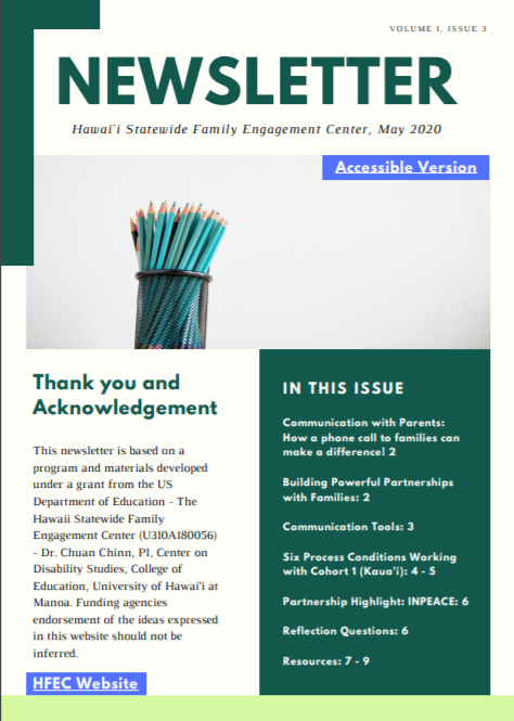 Thumbnail of Newsletter Volume 1, Issue 3