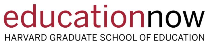 Education Now: Harvard Graduate School of Education