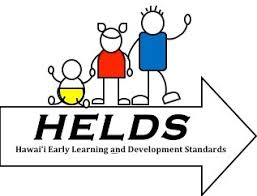 H.E.L.D.S. Logo: Hawaii Early Learning and Development Standards