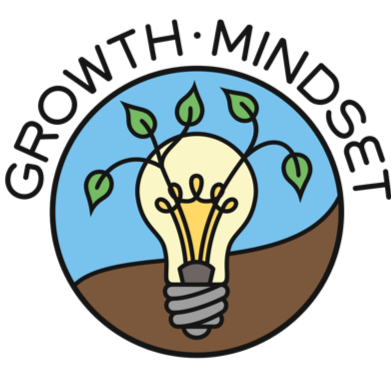 Growth Mindset: Plant growing out of a light bulb.
