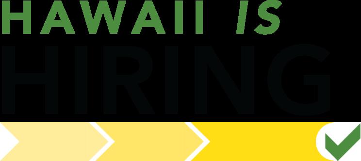 Hawaii is Hiring Logo.