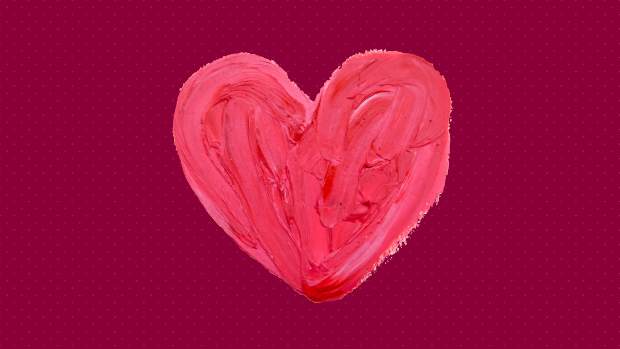 heart shape made of frosting