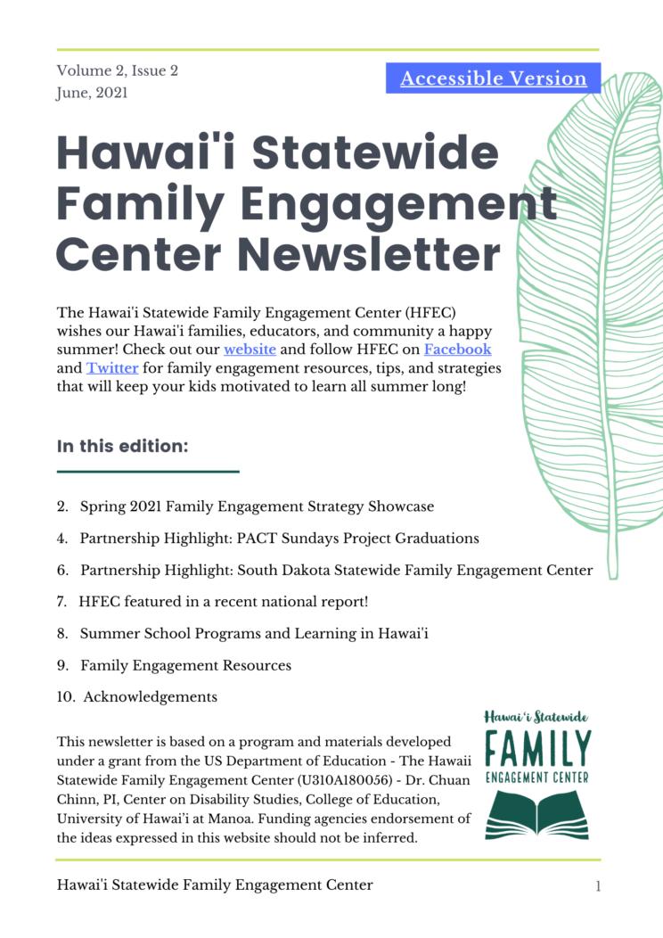 HFEC Newsletter Cover: Volume 2, Issue 2
