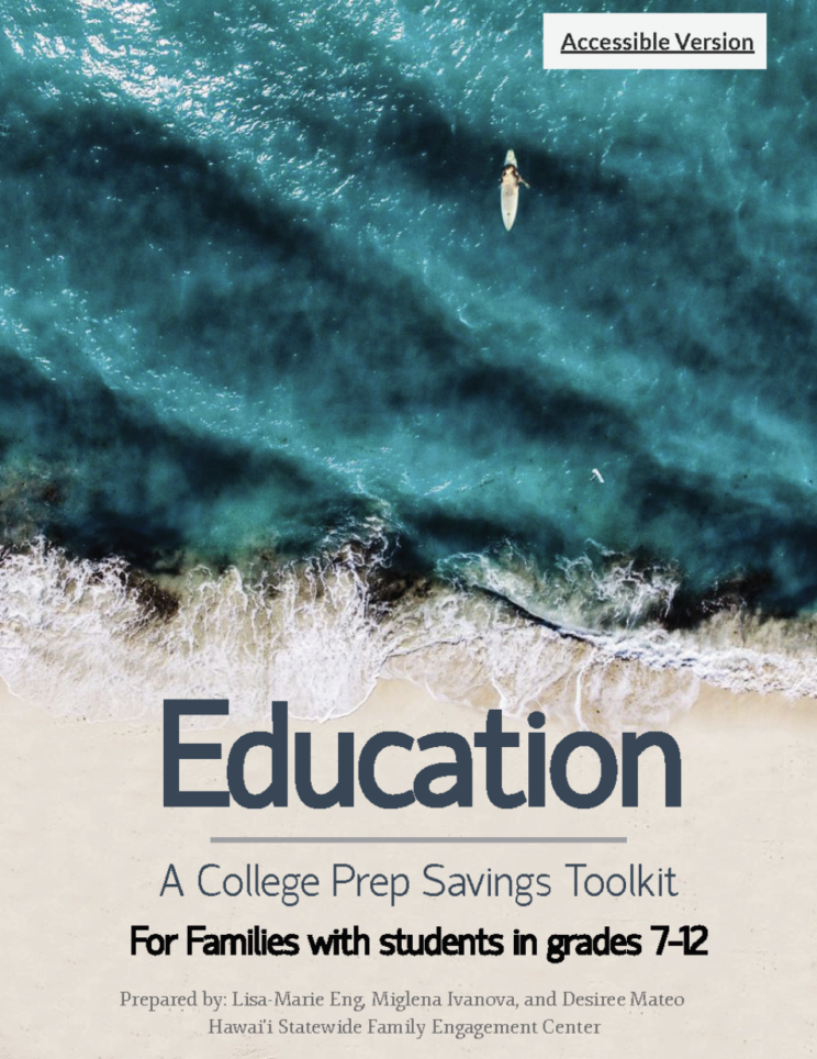 Cover of Education - A college prep savings toolkit