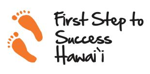 Orange foot prints - First Step to Success Hawaii