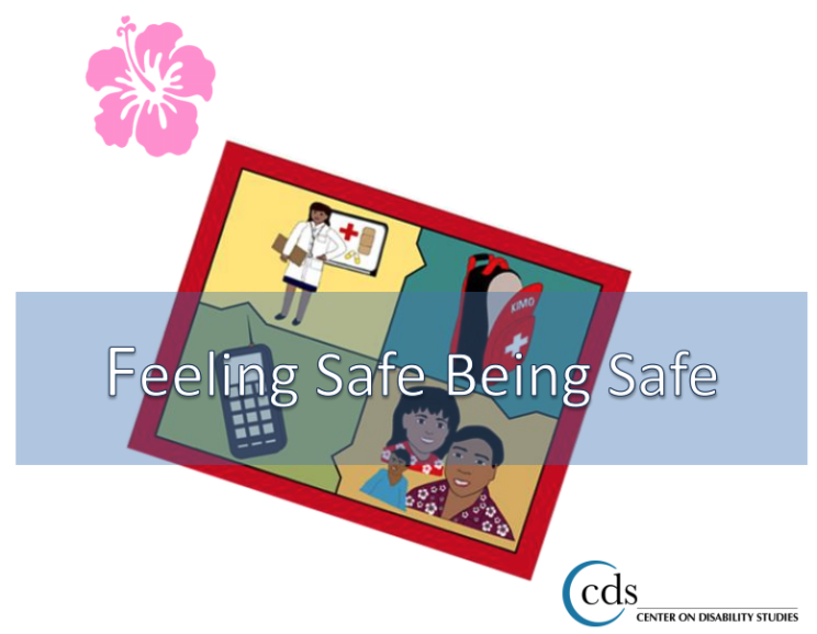 Pink hibiscus and Feeling Safe Being Safe Magnet - A CDS Project