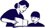 Teaching reading to a student; NBELL LOgo
