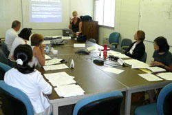 A group of 6 at a committee meeting for Access for All
