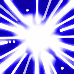 Creating Futures logo - burst of light