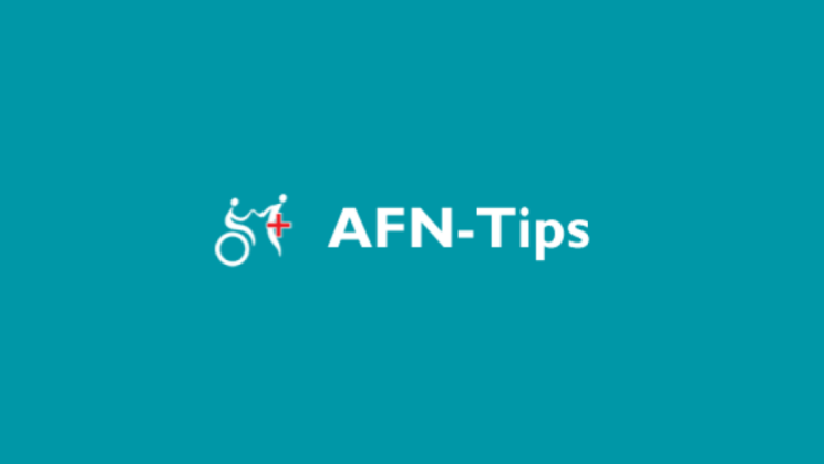 AFN TIPS logo of first responder assisting person in a wheelchair