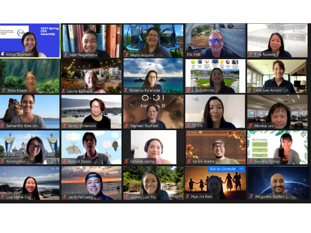 Screenshot of 25 CDS employees in a Zoom meeting